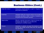 business ethics cont
