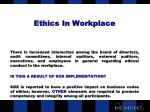 ethics in workplace