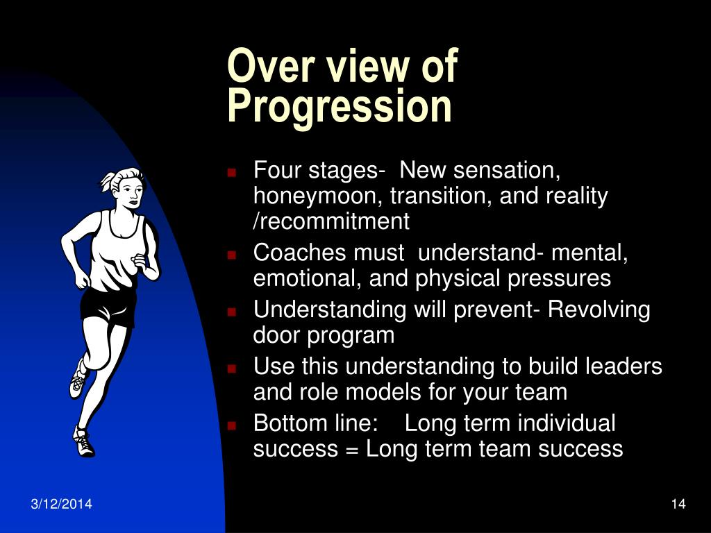 Over view of Progression