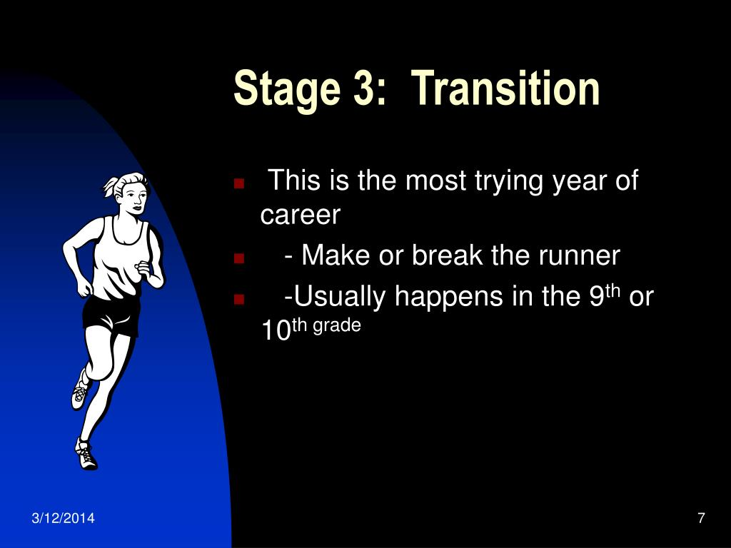 Stage 3:  Transition