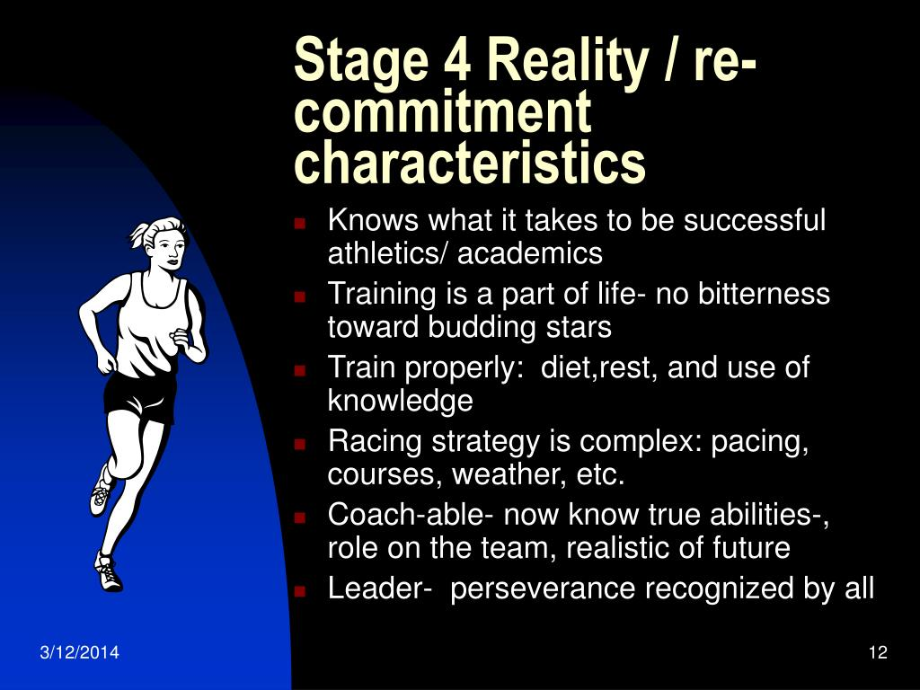 Stage 4 Reality / re-commitment characteristics