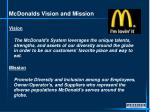 mcdonalds vision and mission