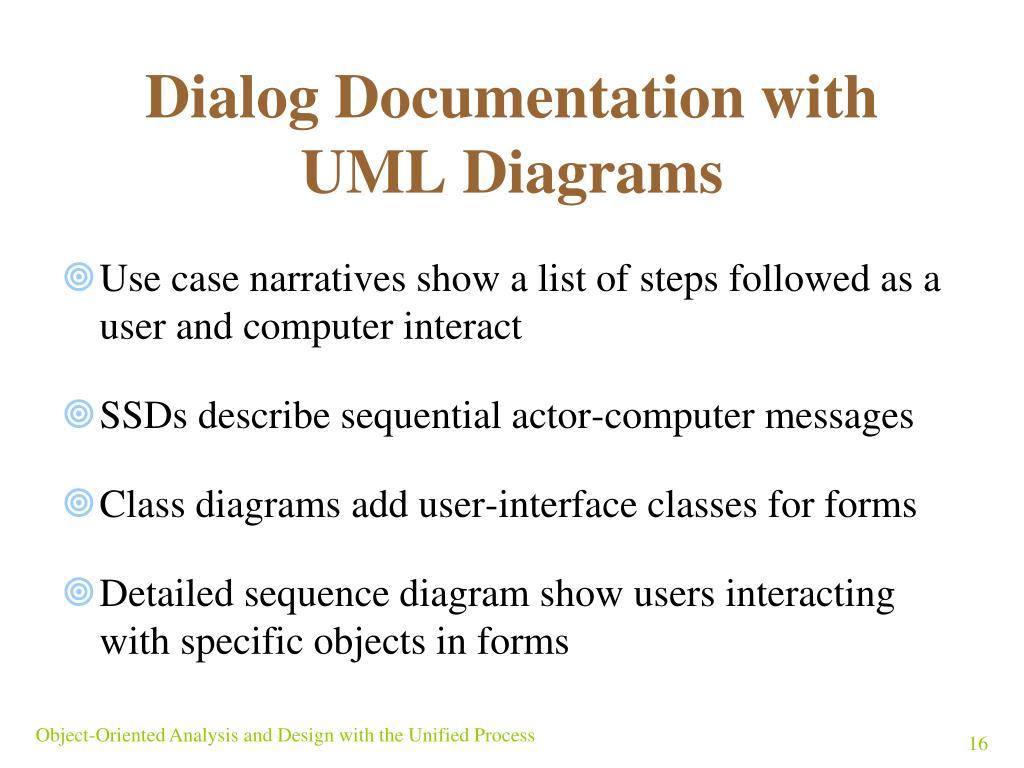 Dialog Documentation with UML Diagrams