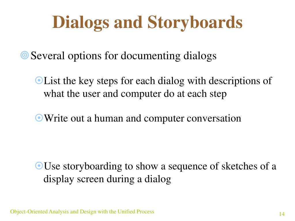 Dialogs and Storyboards
