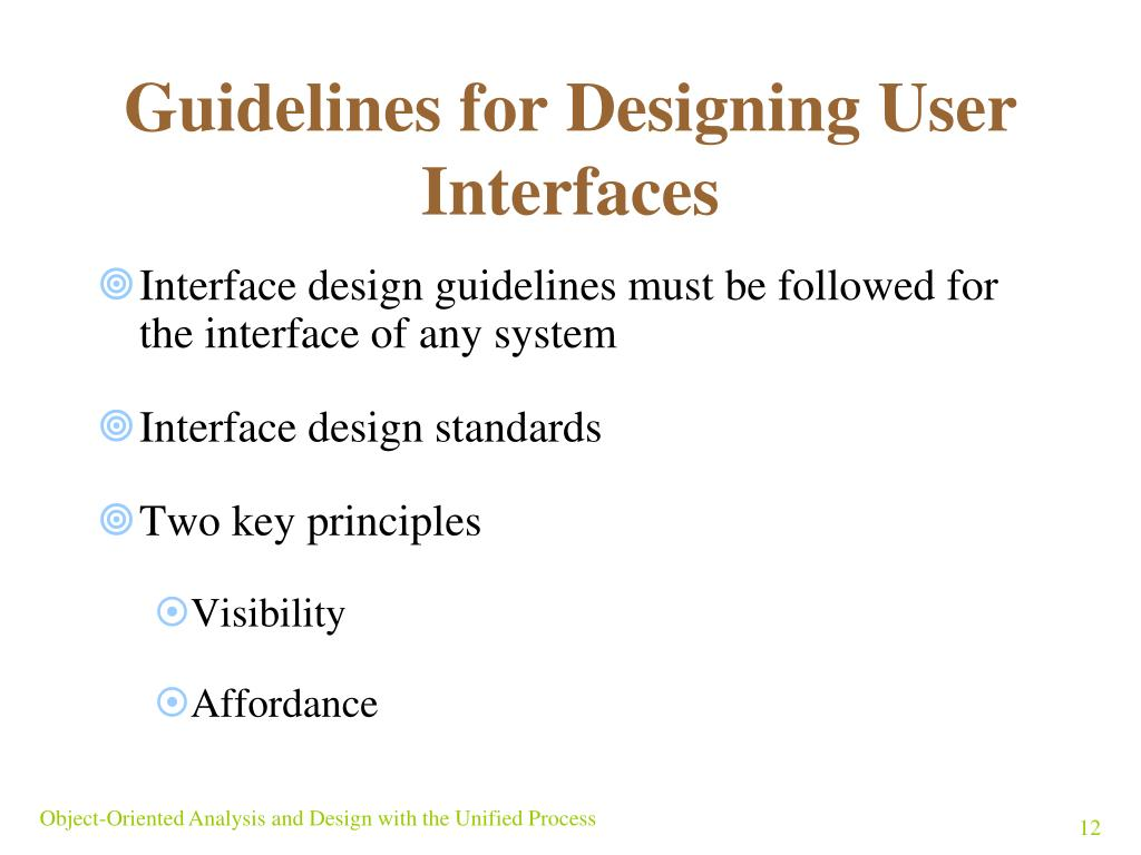 Guidelines for Designing User Interfaces