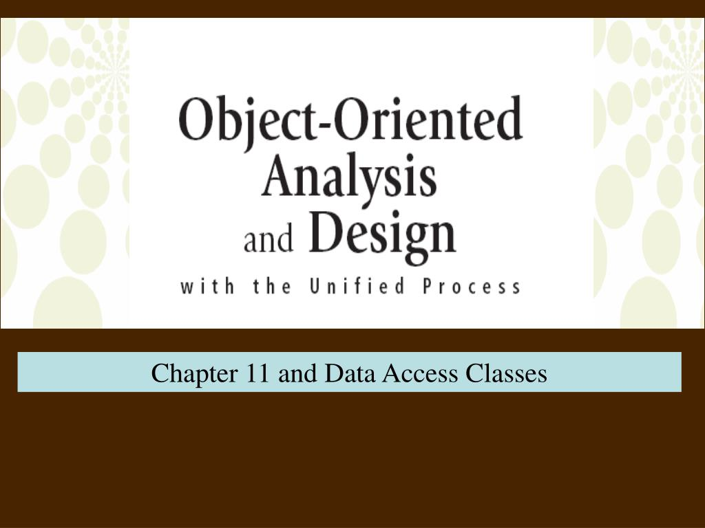 Chapter 11 and Data Access Classes
