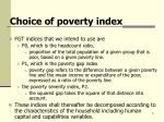 choice of poverty index