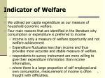 indicator of welfare