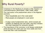 why rural poverty