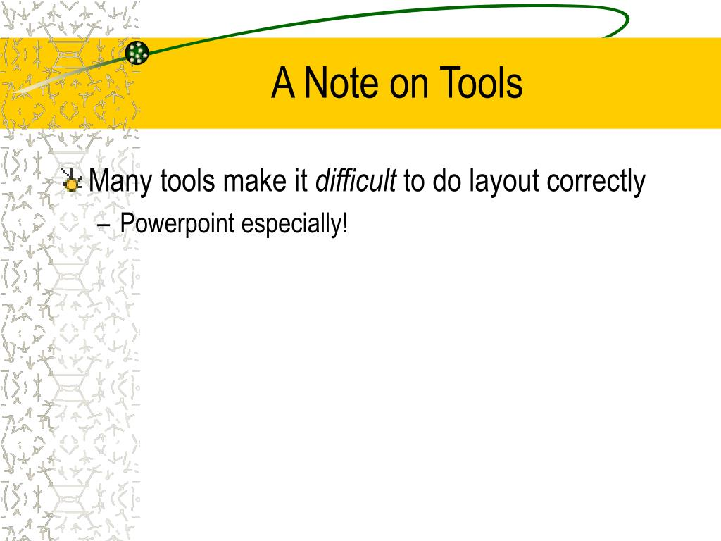 A Note on Tools