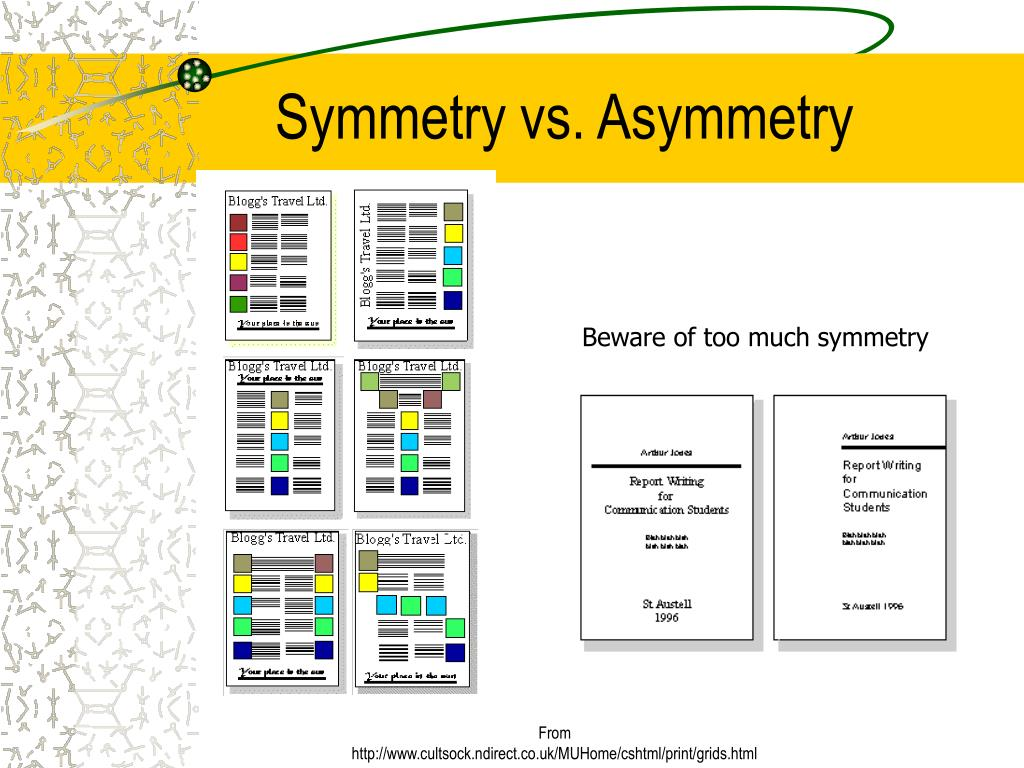 Symmetry vs. Asymmetry