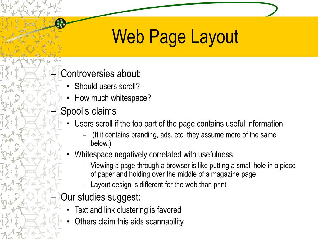 Web Page Layout
