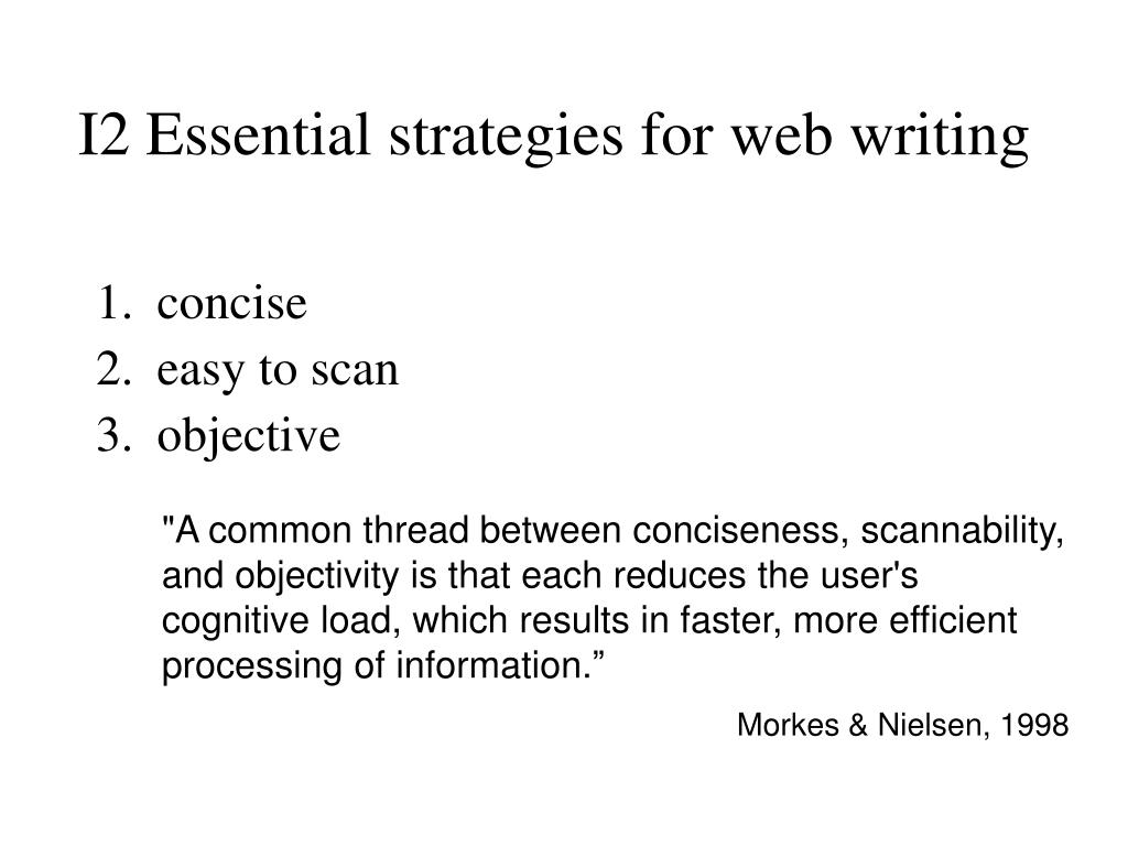 I2 Essential strategies for web writing