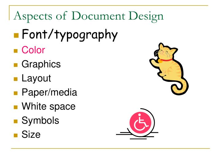 Aspects of document design