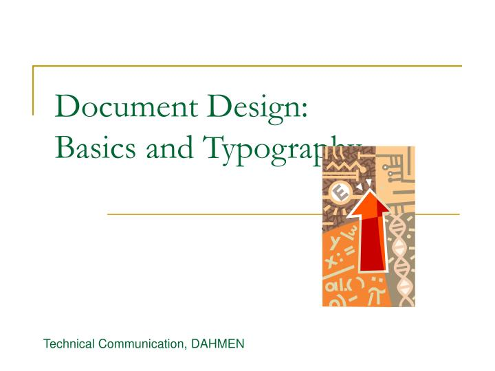 Document design basics and typography