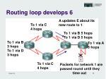 routing loop develops 6