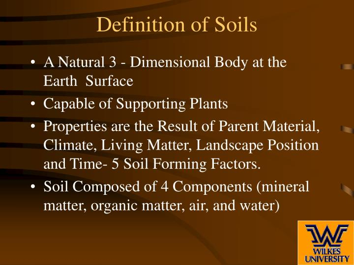 Ppt soil profile and soil horizons powerpoint for Organic soil definition