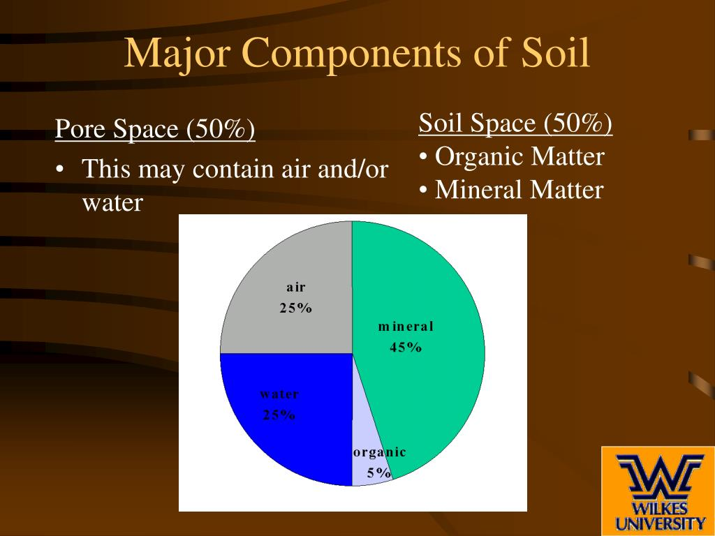 Ppt soil profile and soil horizons powerpoint for Four main components of soil