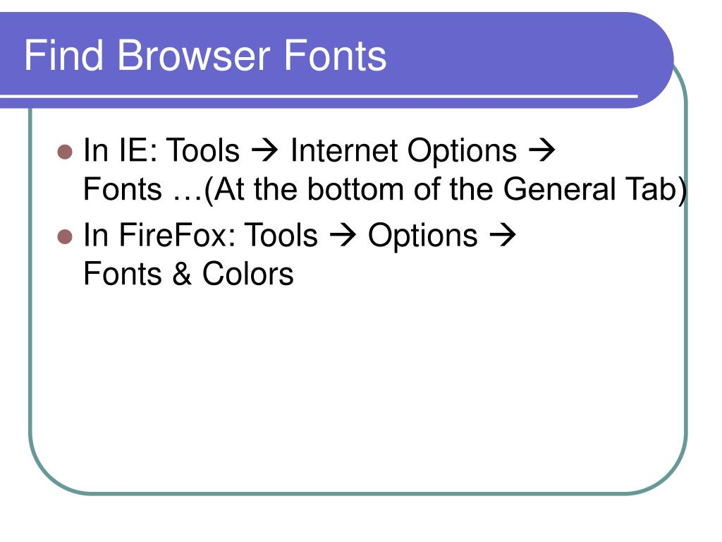 Find Browser Fonts