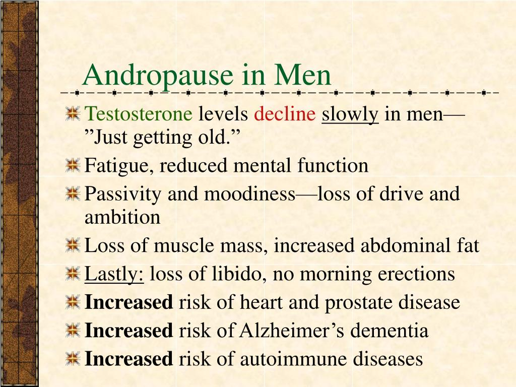 Andropause in Men