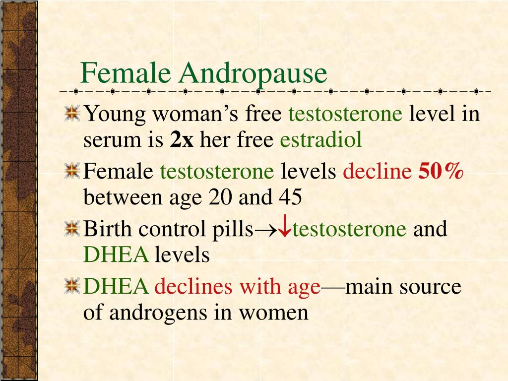 Female Andropause