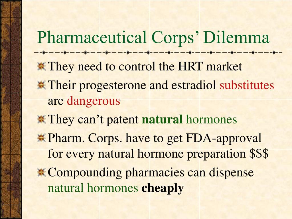Pharmaceutical Corps' Dilemma