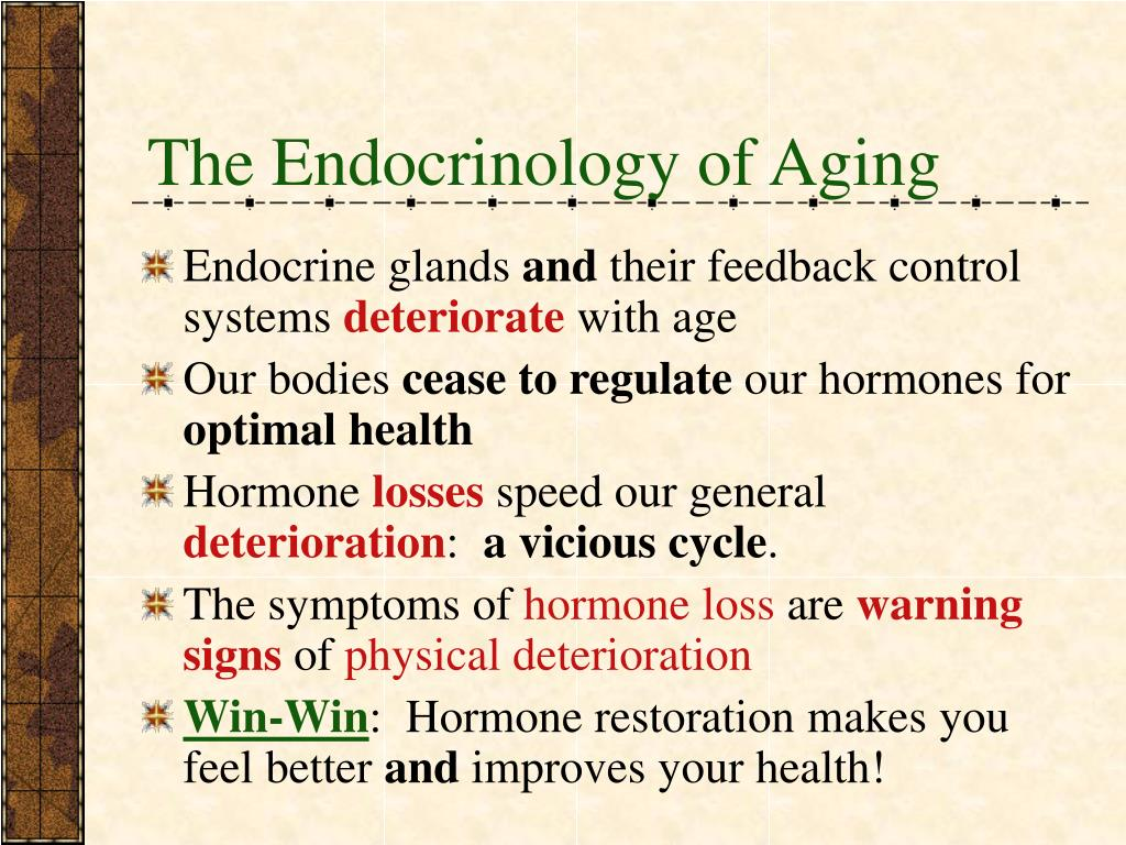 The Endocrinology of Aging