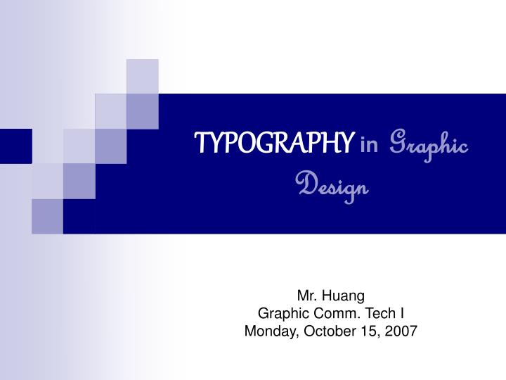 Typography in graphic design