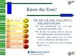 know the zone
