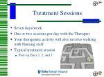 treatment sessions