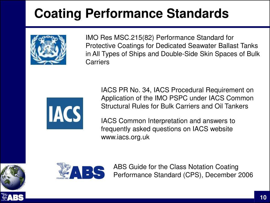 Coating Performance Standards