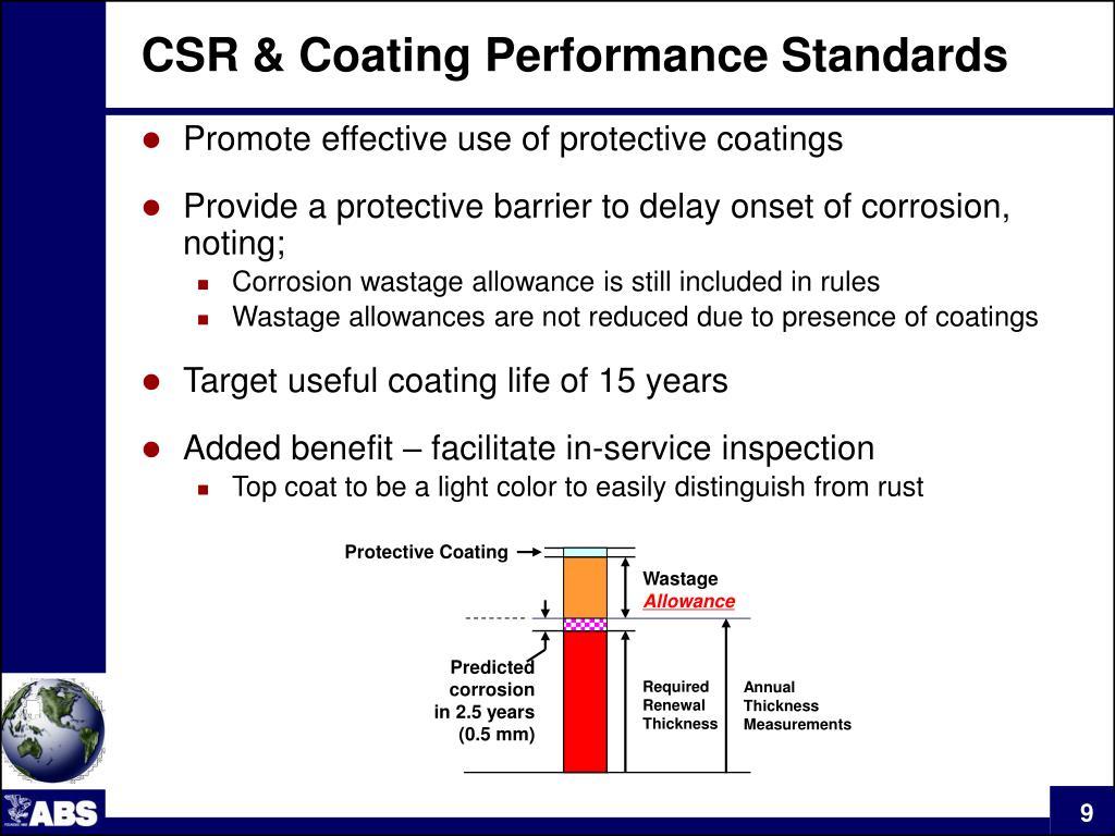 CSR & Coating Performance Standards