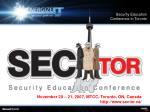 security education conference in toronto