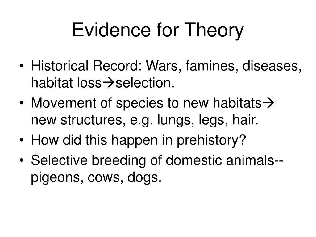 Evidence for Theory
