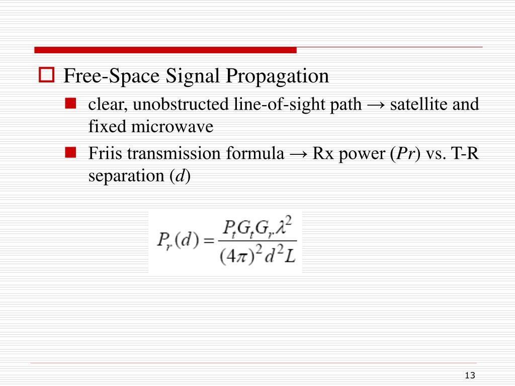 Free-Space Signal Propagation