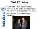 bwchps history