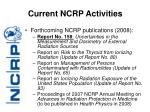 current ncrp activities