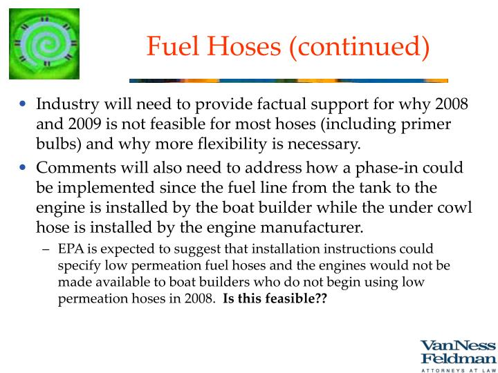 Fuel Hoses (continued)