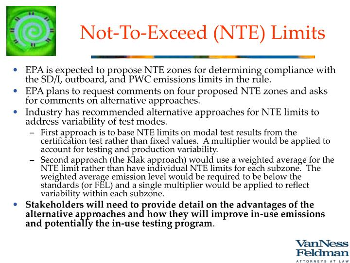 Not-To-Exceed (NTE) Limits