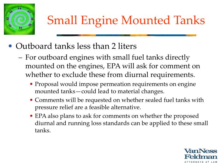 Small Engine Mounted Tanks