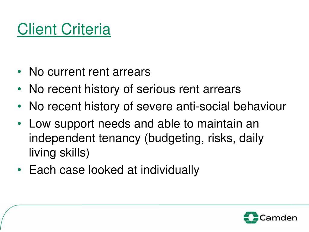 Client Criteria