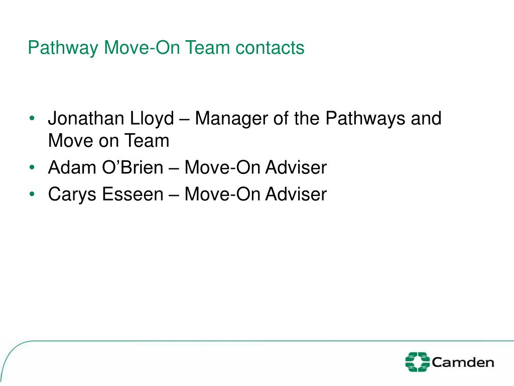 Pathway Move-On Team contacts