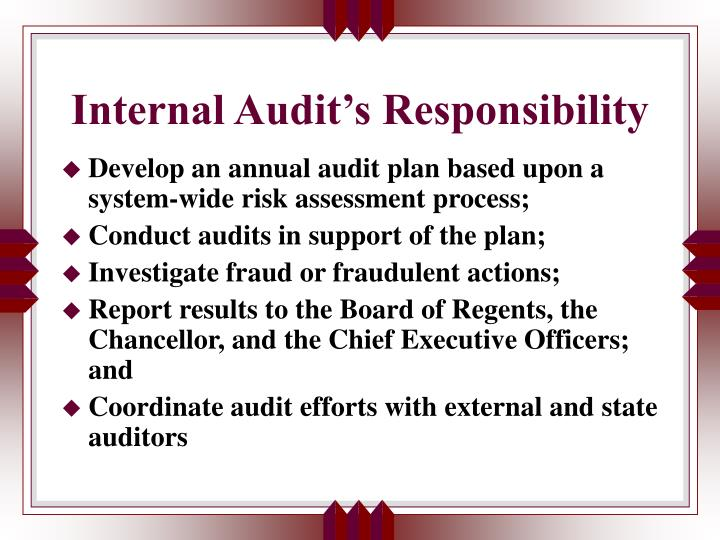 Internal audit s responsibility