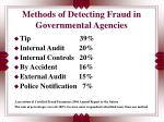 methods of detecting fraud in governmental agencies