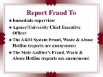 report fraud to