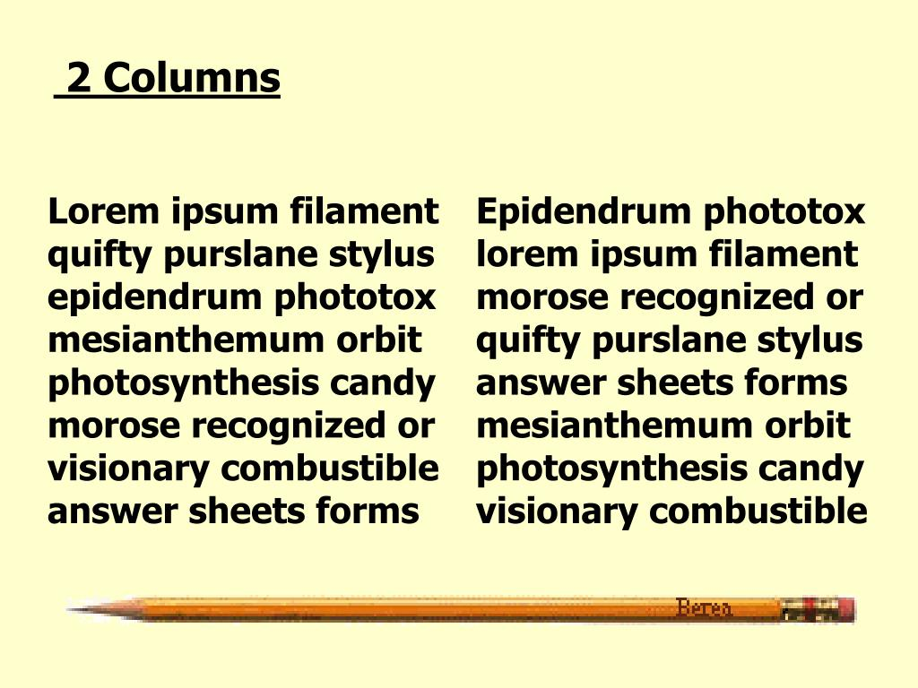 2 Columns