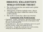 immanuel wallerstein s world systems theory