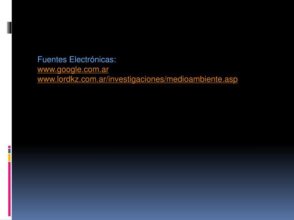 Fuentes Electrónicas: