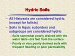 hydric soils10