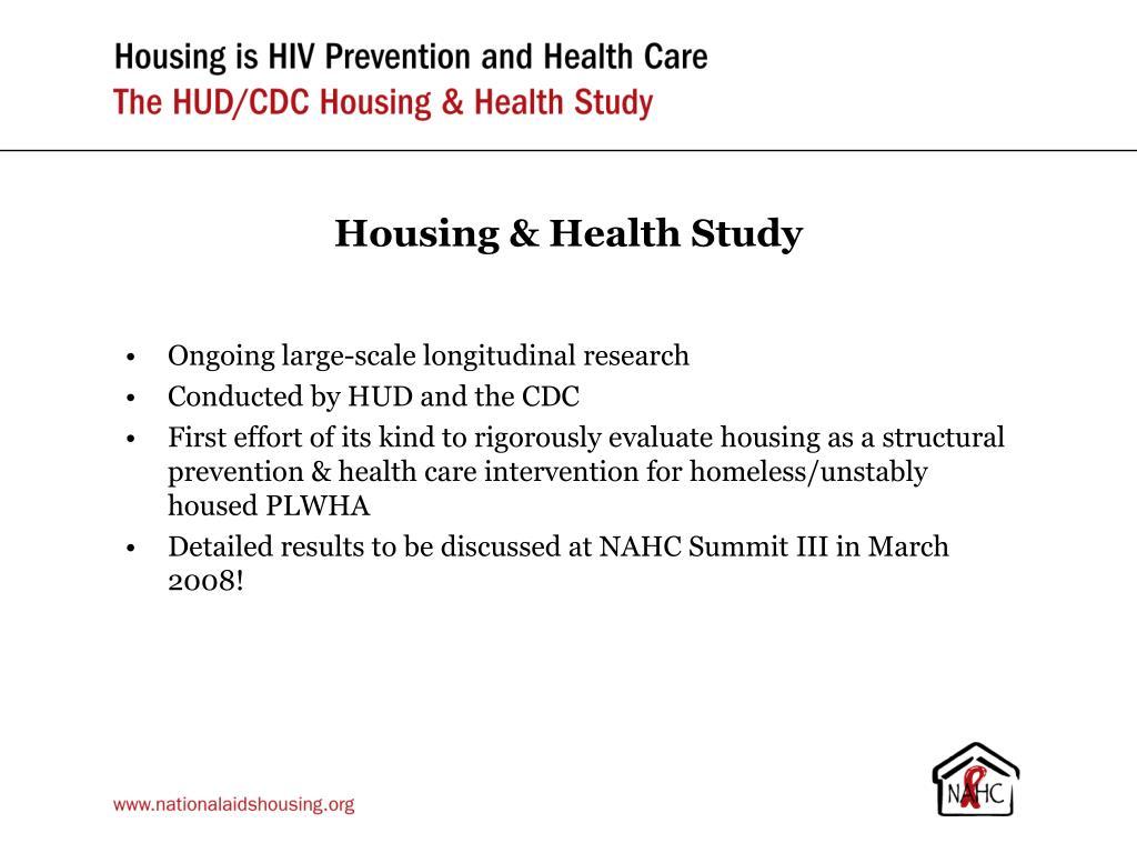 Housing & Health Study